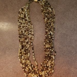 Jewelry - Brown and gold natural colors beaded necklace